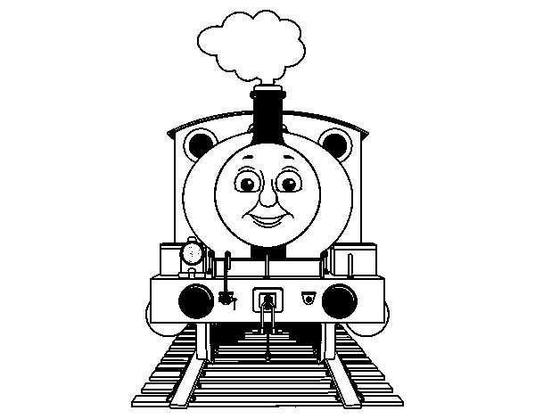 Percy the engine coloring page