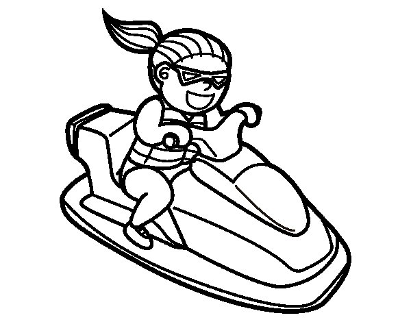 Personal water craft coloring page