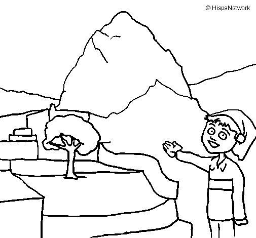 Peru coloring page