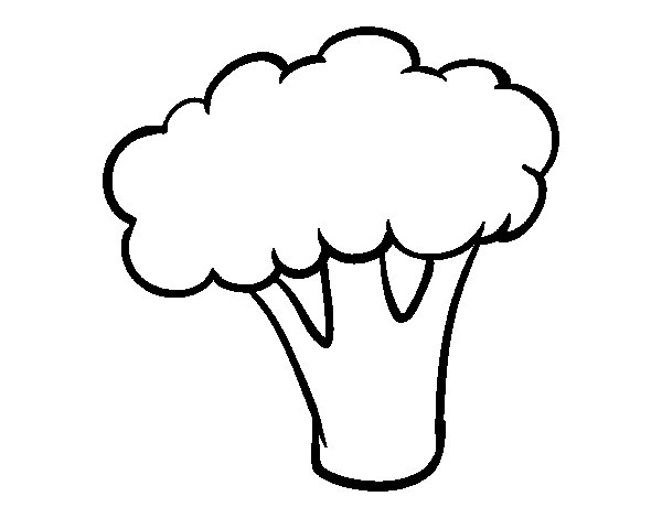 Piece of broccoli coloring page