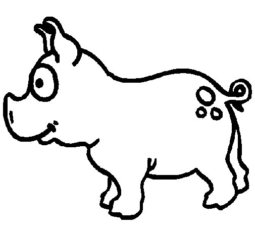Pig coloring page