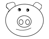 Piglet face coloring page