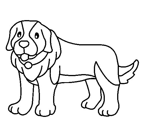 Pigment the dog coloring page