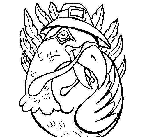 Pilgrim turkey coloring page