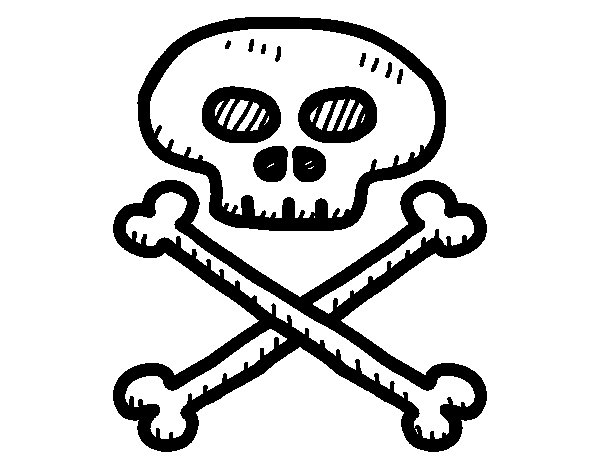 Pirate skull coloring page