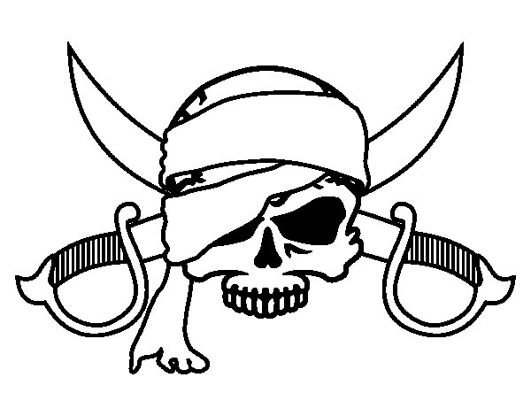 Pirate symbol coloring page