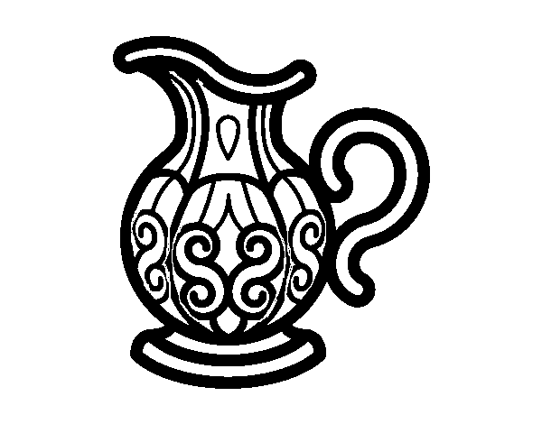 Pitcher of water coloring page Coloringcrewcom