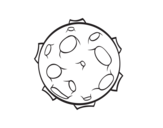 Planet with craters coloring page