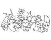 Pokemons coloring page