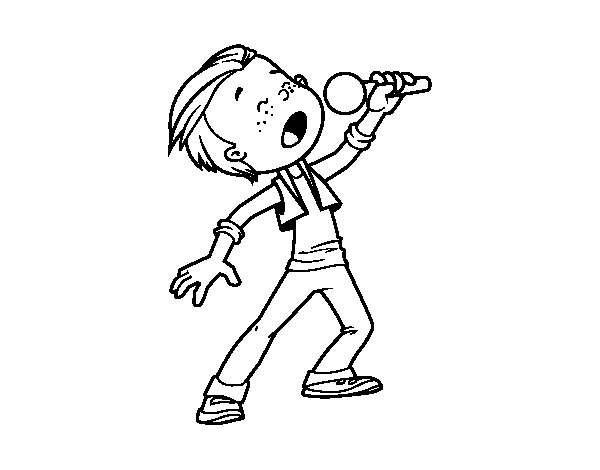 Pop Singer  coloring page