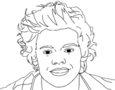 Portrait of Harry Styles coloring page