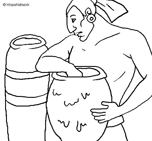 Potter coloring page