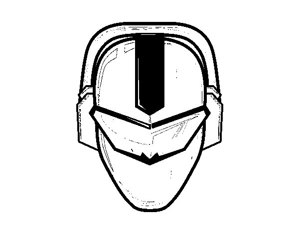 Power ranger Mask coloring page  Coloringcrewcom