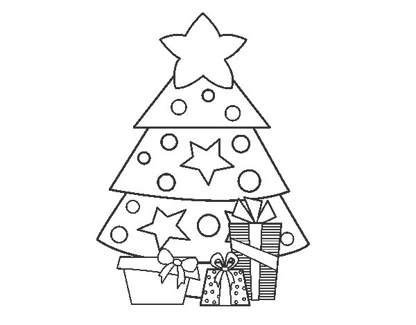 Presents 2 coloring page