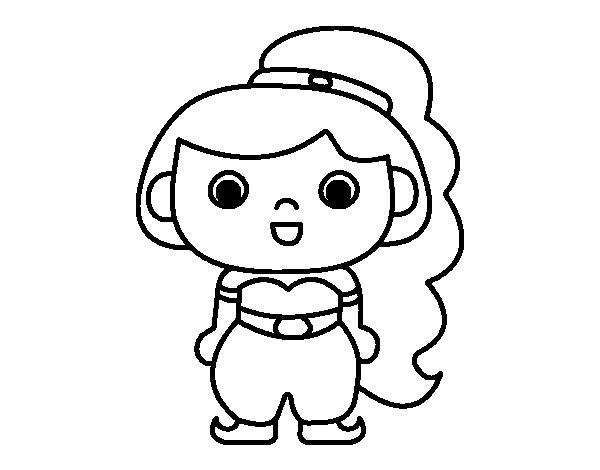 Princess arab coloring page