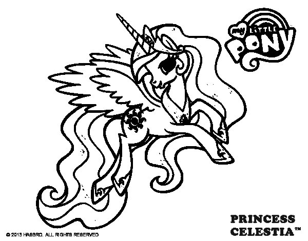 princess celestia coloring page - Princess Celestia Coloring Page