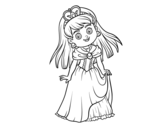 Princess charming coloring page
