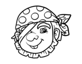 Private pirate coloring page