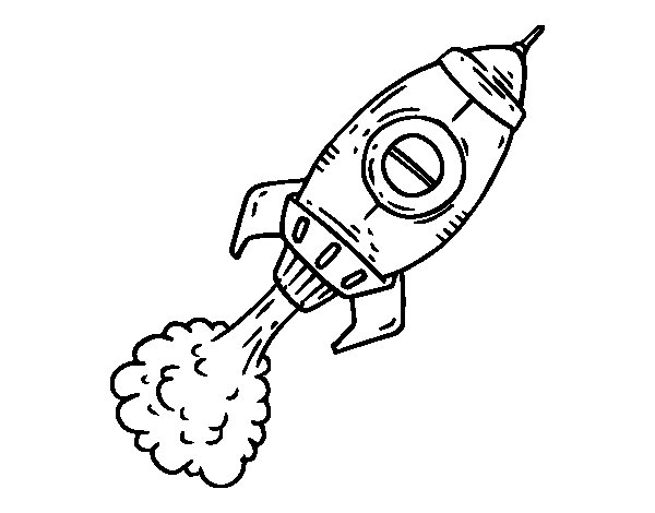 Propulsion rocket coloring page