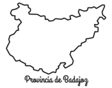Province of  Badajoz coloring page