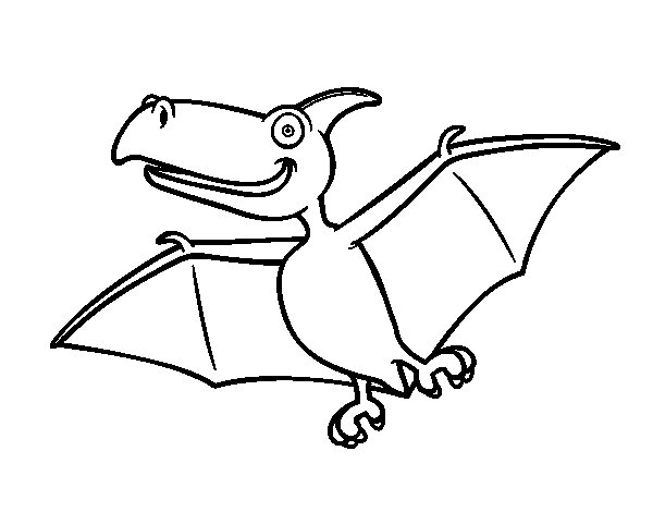 Pterodactylus coloring page