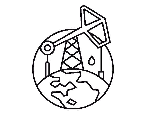 pumpjack coloring page