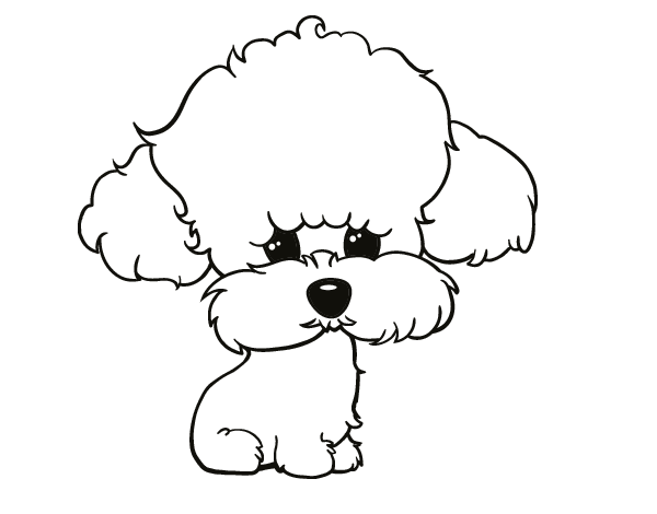 coloring pages of poodle dogs - photo#12