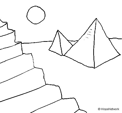 Pyramids coloring page