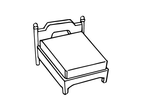 coloring pages of beds - photo#36