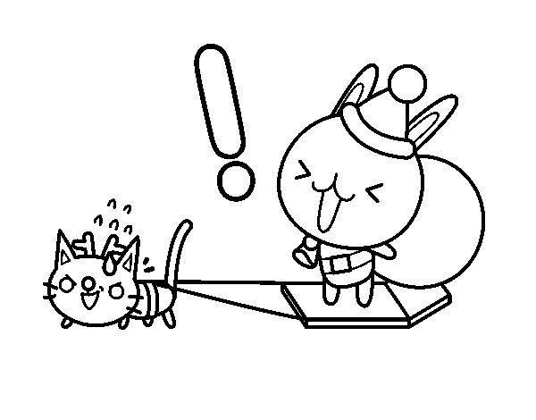 Rabbit Santa coloring page