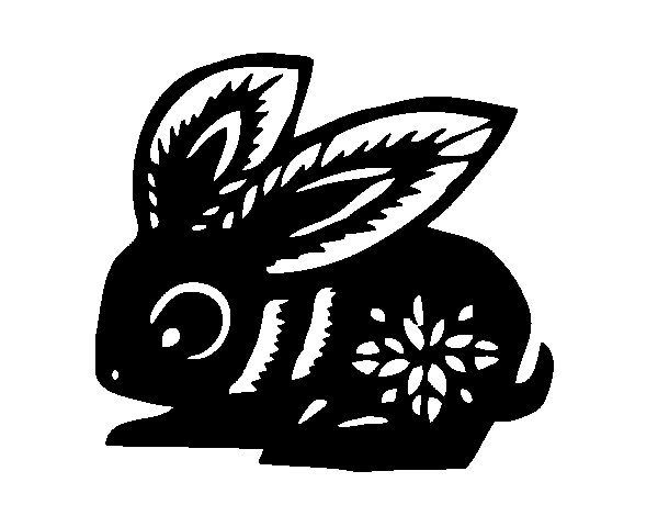 Rabbit Sign coloring page