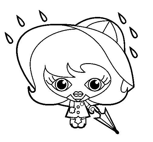 Rain III coloring page
