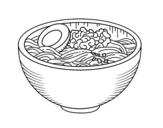 Ramen bowl coloring page