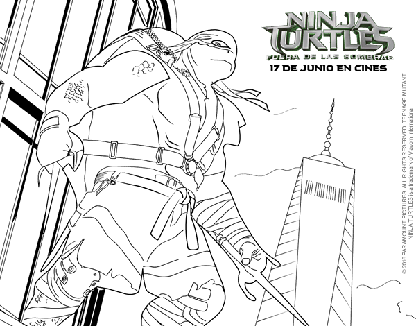 ninja turtles coloring pages characters - photo#37