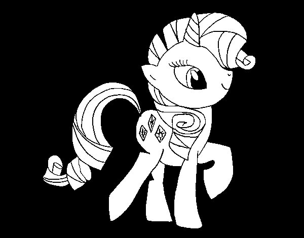Rarity coloring page