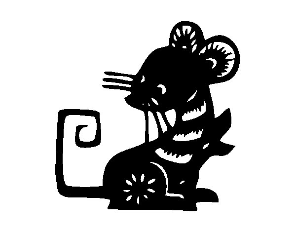 Rat Sign coloring page