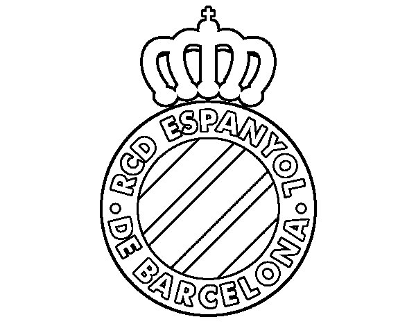 RCD Espanyol crest coloring page