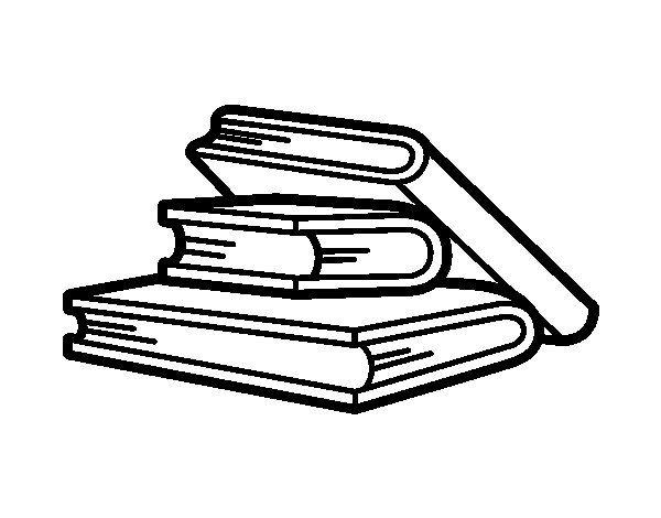 reading books coloring page - Books To Color