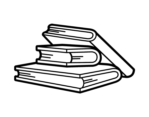 Reading books coloring page - Coloringcrew.com