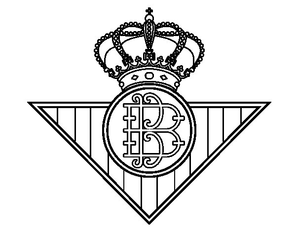 Real Betis crest coloring page