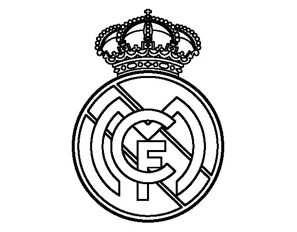 Real Madrid C.F. crest coloring page
