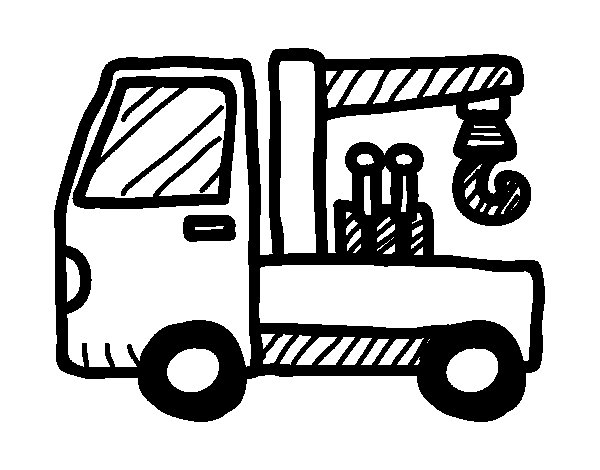 Recovery truck coloring page
