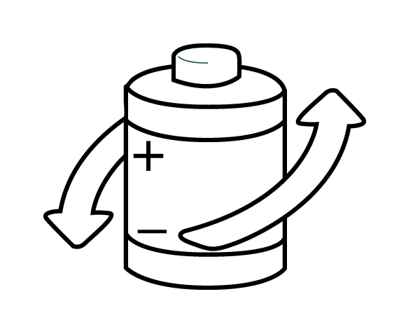recycle batteries coloring page