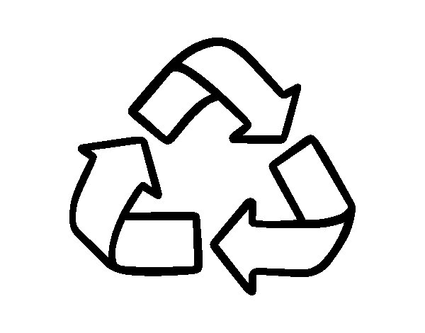 Recycling symbol coloring page