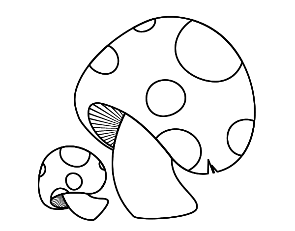 Red pine mushroom coloring page