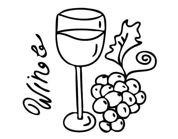 wine coloring book pages - photo#15