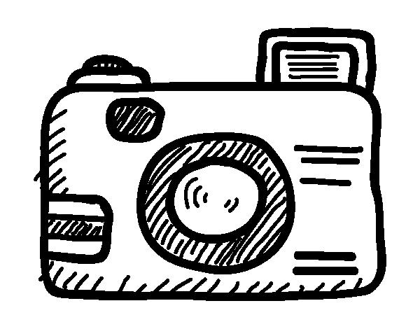 camera coloring page - reflex camera coloring page