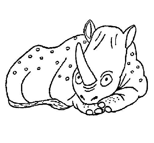 Rhinoceros 1 coloring page