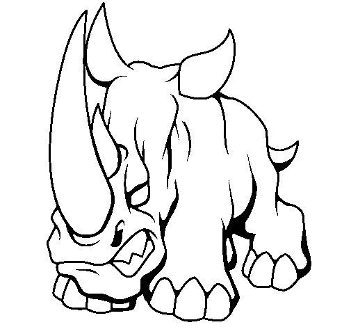 Rhinoceros II coloring page