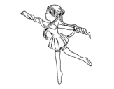 Dibujo de Rhythmic gymnast